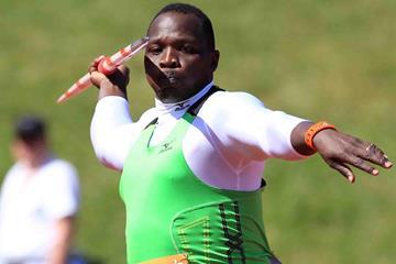 Julius Yego at the IAAF Diamond League meeting in Birmingham (Jean-Pierre Durand)