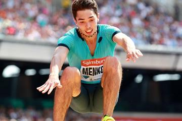 Aleksandr Menkov at the 2013 IAAF Diamond League in London (Victah Sailer)
