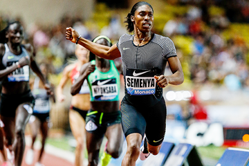 Caster Semenya in the 800m at the IAAF Diamond League meeting in Monaco (Philippe Fitte)