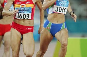 Jolanda Ceplak of Slovenia in the women's 800m (Getty Images)