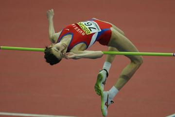 Anna Chicherova of Russia in action in the women's high jump qualification (Getty Images)