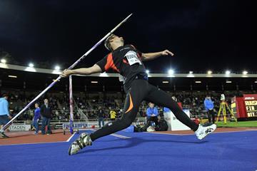 Antti Ruuskanen at the 2014 IAAF Diamond League meeting in Stockholm (DECA Text & Bild)