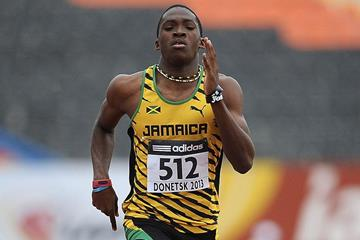 Martin Manley in the boys 400m at the IAAF World Youth Championships 2013 (Getty Images)