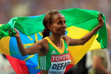 Meseret Defar in the womens 5000m Final at the IAAF World Athletics Championships Moscow 2013 (Getty Images)