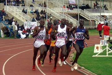Zakary Koskei (1313) winner of the 800m third heat (Peter Njenga)