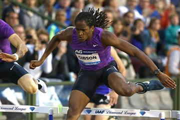 Jeffrey Gibson at the 2015 IAAF Diamond League final in Brussels (Giancarlo Colombo)