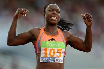 Veronica Campbell-Brown improves to 10.96 in Athens (organisers)