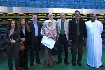 Some of the participants of the TV seminar at the Aspire centre (Doha 2010 LOC)