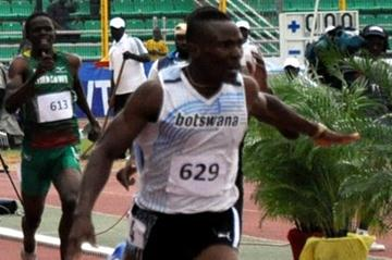 Isaac Makwala of Botswana in the opening round of the 400m in Porto-Novo (Yomi Omogbeja/AthleticsAfrica.Com)