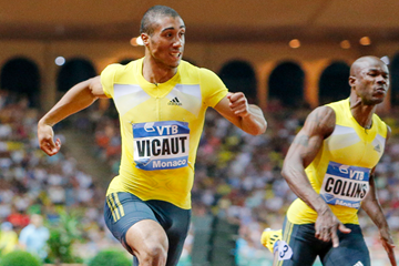 Jimmy Vicaut in action at the IAAF Diamond League meeting in Monaco (Philippe Fitte)