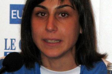 Adelina De Soccio (ITA) at the EAA press conference in  San Giorgio su Legnano (Bob Ramsak)