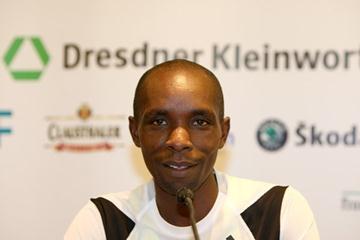 Bernard Barmasai on the eve of the Frankfurt Marathon (Victah Sailer)