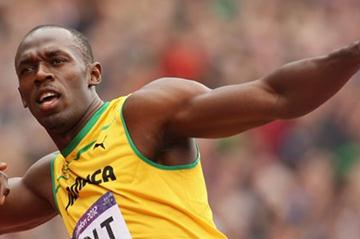 Usain Bolt of Jamaica is getting enthusiastic after competing in the Men's 200m Round 1 Heats on Day 11 of the London 2012 Olympic Games on August 7, 2012 (Getty Images)