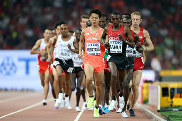 Paul Tanui in the men's 10,000m at the IAAF World Championships, Beijing 2015 (Getty Images)
