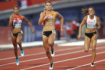 Dafne Schippers on her way to winning the 100m at the European Championships (Getty Images)
