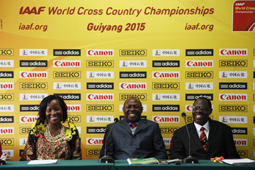 Members of the Kampala 2017 organising committee at the IAAF World Cross Country Championships, Guiyang 2015 (IAAF)