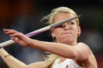 Madara Palameika in the javelin at the 2012 Olympics in London (AFP / Getty Images)