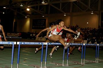 Gail Devers in full flight in Boston (Brian Myers - PhotoRun)