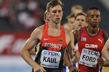 Niklas Kaul in the decathlon 1500m at the IAAF World U20 Championships Bydgoszcz 2016 (Getty Images)