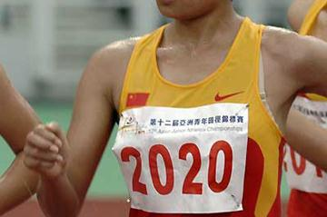 Li Cui of China on her way to 10,000m Race Walk gold in Macau (Charlie Lee)