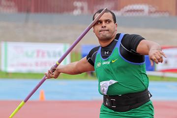 Júlio César de Oliveira, winner of the javelin at the South American Championships (Oscar Muñoz Badilla)