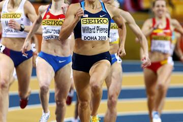 USA's Anna Pierce on her way to winning her heat of the 800m in Doha (Getty Images)