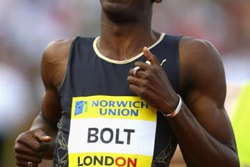 All smiles - Usain Bolt after his convincing win in London in 2007 (Getty Images)