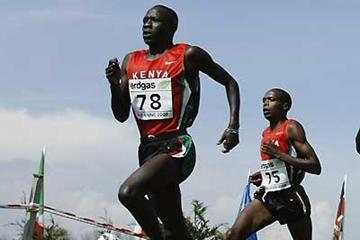 Moses Mosop on whose shoulders much Kenyan hope rests in Mombasa (Getty Images)