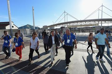 IAAF President Sebastian Coe before the athletics test event in Rio de Janiero (Getty Images)