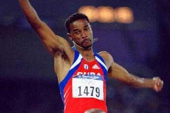 Ivan Pedroso at the 2000 Olympic Games (© Allsport)