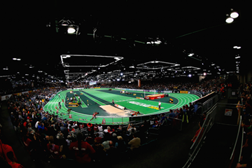 The men's 4x400m at the IAAF World Indoor Championships Portland 2016 (Getty Images)