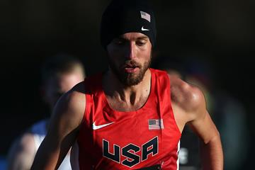 USA's Chris Derrick in the senior men's race (Getty Images)