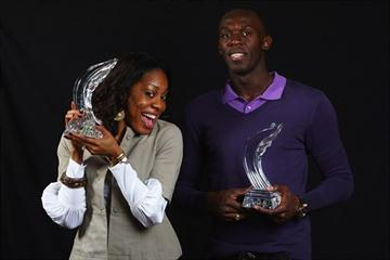 2009 World Athletes of the Year, Sanya Richards and Usain Bolt (Getty Images)
