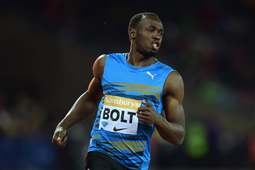 Usain Bolt at the IAAF Diamond League meeting in London (Getty Images)