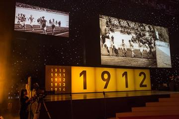 Stage and presentation at the IAAF Centenary Gala in Barcelona (Philippe Fitte)