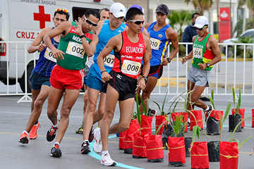 Andres Chocho on his way to winning the 50km in Ciudad Juarez (Chihuahua Sports Institute)