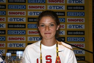 Amy Weissenbach of the United States at the Lille Pre-Event Press Conference (Bob Ramsak)