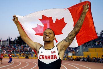 Andre De Grasse at the 2015 Pan American Games (Getty Images)