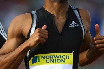 Solid victory for Tyson Gay in London in 2007 (Getty Images)