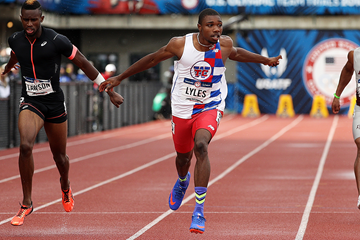 USA's Noah Lyles in action in the 100m (Getty Images)
