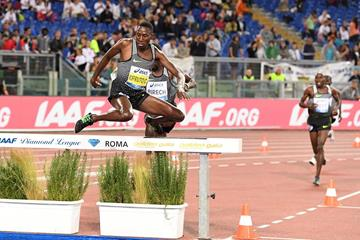 Conseslus Kipruto at the 2016 IAAF Diamond League meeting in Rome (Gladys Chai)