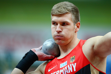 Germany's Mathias Brugger in the heptathlon shot put (Getty Images)