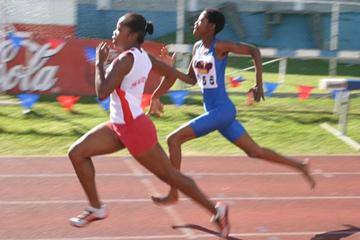 Ingrid Labelle winner of the 100m final at the Southern Region Youth Championships (Lékip)