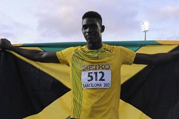 Fedrick Dacres after winning the discus at the IAAF World Junior Championships in Barcelona (Getty Images)