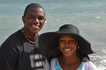 Veronica Campbell Brown and husband Omar relaxing during the holiday season (Veronica Campbell Brown)