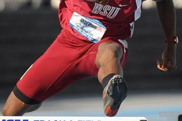 400m Hurdles US champion Jeshua Anderson (Kirby Lee)