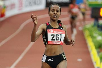 Meseret Defar, winner of the 3000m (Getty Images)