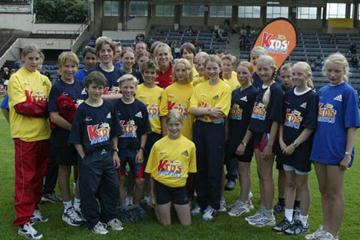Kajsa Bergqvist heads Oslo IAAF Kids' Athletics (Getty Images)