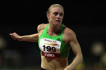 Sally Pearson winning the 100m at the 2011 Brisbane meeting (IAAF.org)