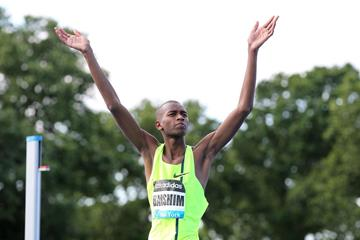 Mutaz Essa Barshim at the 2014 IAAF Diamond League in New York (Victah Sailer)